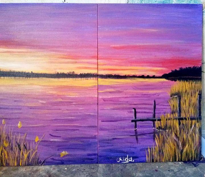 Purple lake - Eyda Lahi