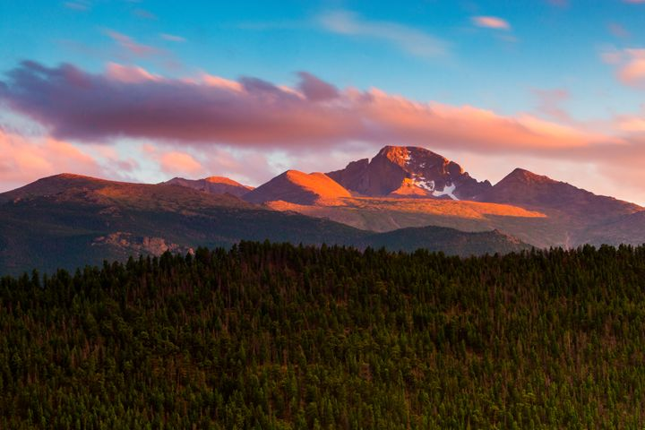A Sunset Over Longs - John De Bord Photography