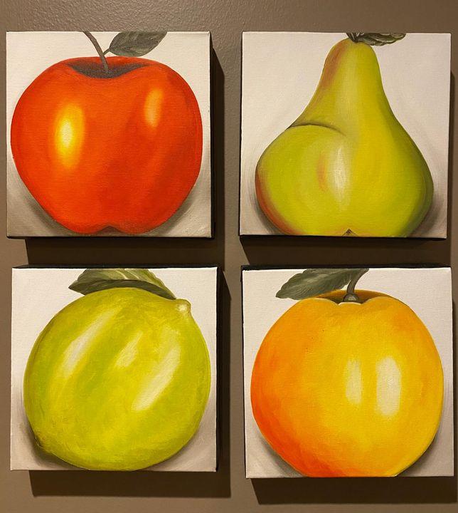 Quadruplo de Frutas- Quadruple Fruit - Rosangela Carneiro