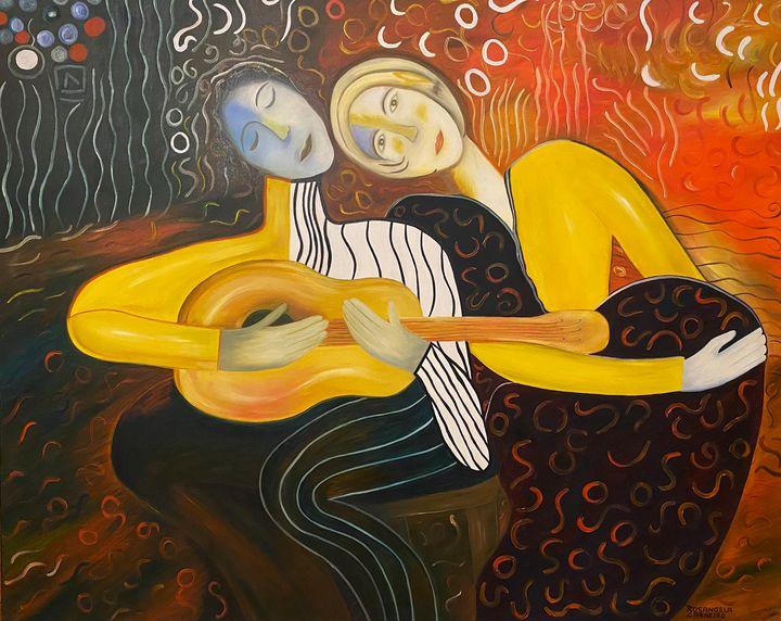Casal Feliz- Happy Couple - Rosangela Carneiro