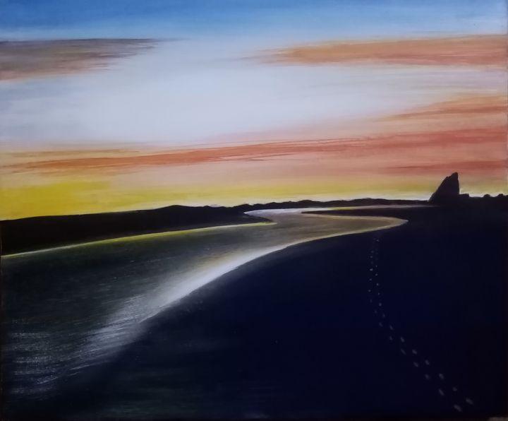 Whatipu sunset - Douglas Robertson