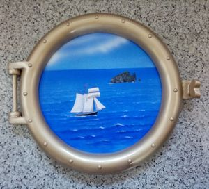 looking out the porthole