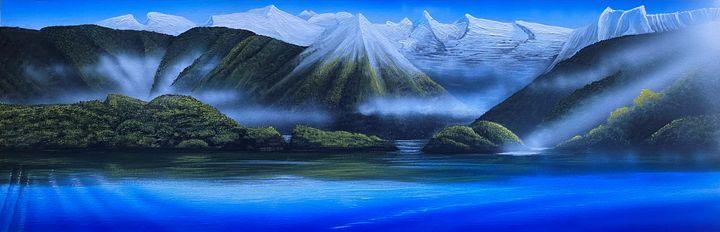 Te Anau,morning light - Douglas Robertson