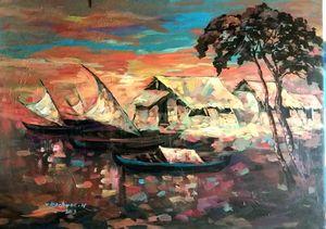 Sunset at fisherman village