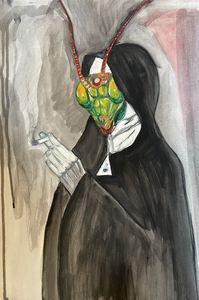 Smoking Mantis Nun