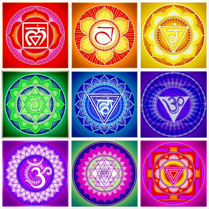 Seven Chakras, Sri, and Chinnamasta - Leona Patrick
