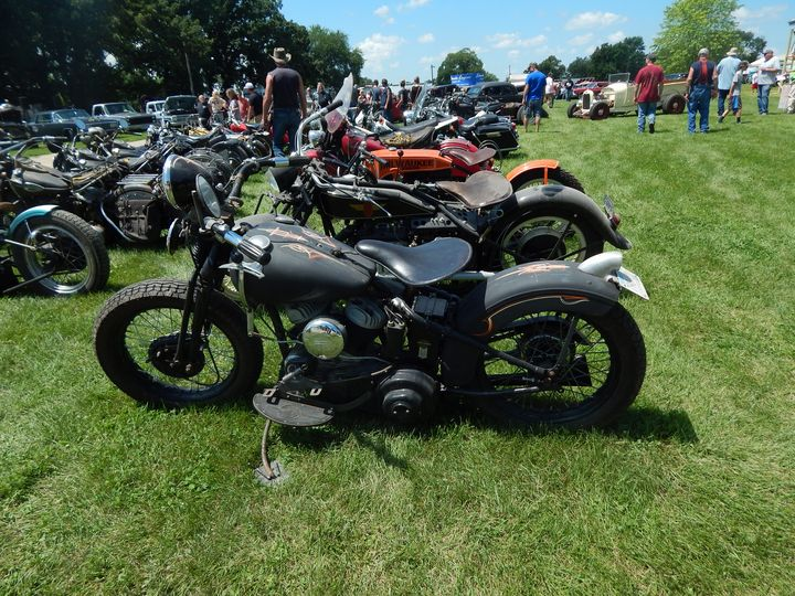 Classic Motorbikes - Abstract wild art