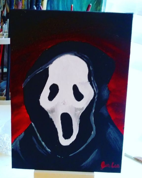 Ghost Face Scream Painting - The Coolest Art on Earth