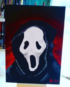 Ghost Face Scream Painting