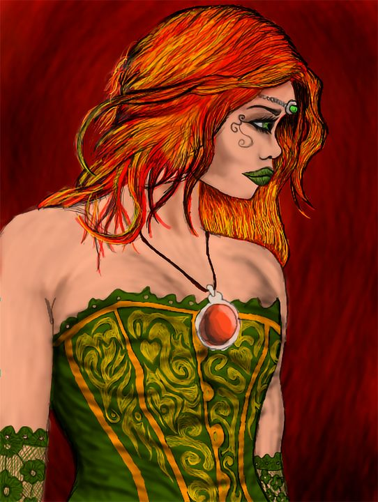 Kissed by Fire Gothic Witch Girl - IainMcL Scotland
