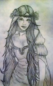 Gothic Flower Girl