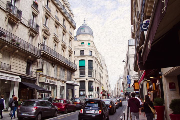 Daytime street in Paris. - Angela Rancher Photography