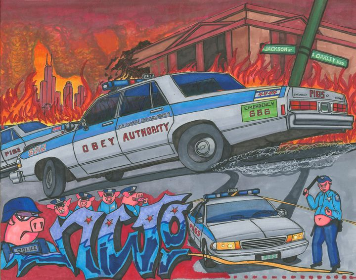 Obey Authority (NWO SERIES #1) 2013 - AB-SURD9 Fine Art and Prints LLC