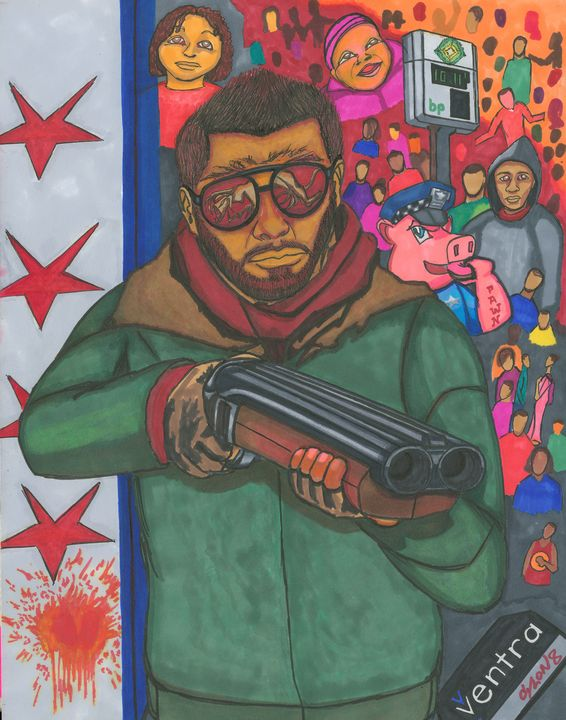 GunmAn (NWO SERIES #2) 2013 - AB-SURD9 Fine Art and Prints LLC