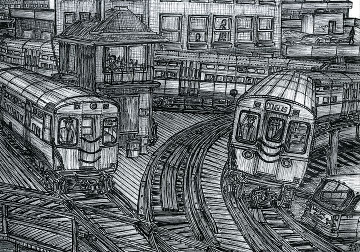 The World's Busiest Railway Junction - AB-SURD9 Fine Art and Prints LLC
