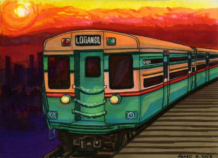 Next Stop, LogAn SquAre - AB-SURD9 Fine Art and Prints LLC