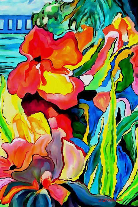 Abstract Garden 4 - Stocksom Art Prints