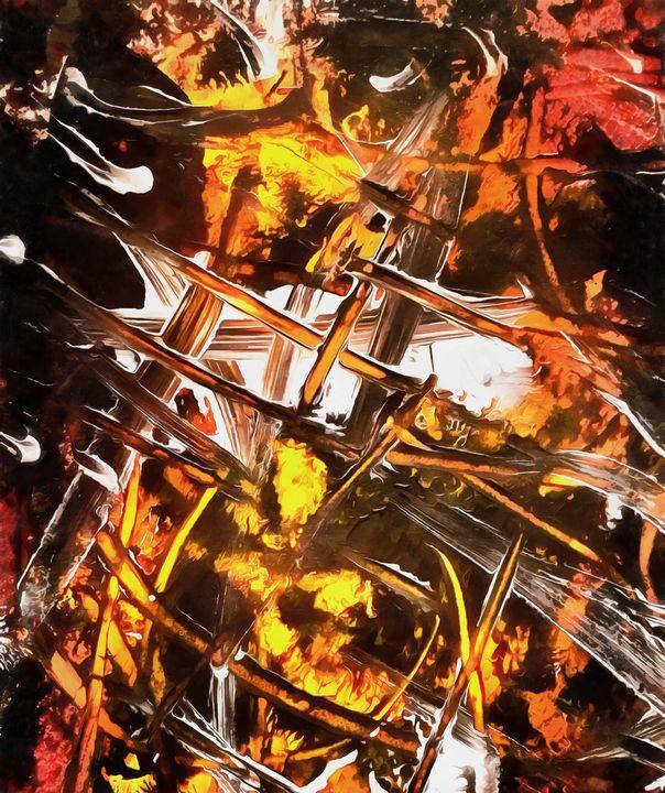 Fire - Stocksom Art Prints