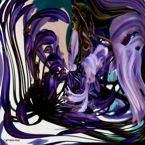 Agapanthus Swirl - Stocksom Art Prints