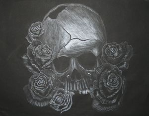 Broken Skull and Roses