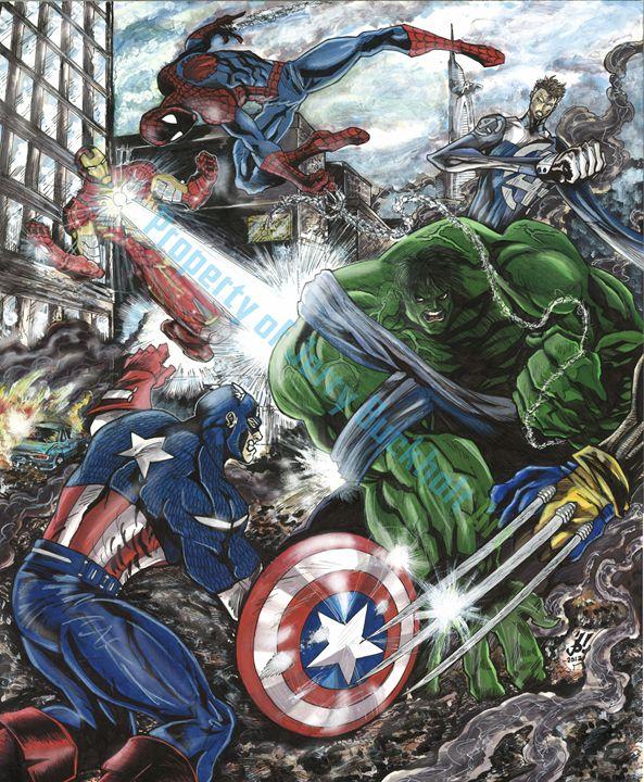 Avengers Assemble! - JerryBuckholtArt
