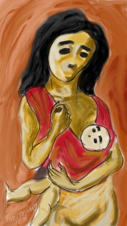 Mother and son - Berkah art
