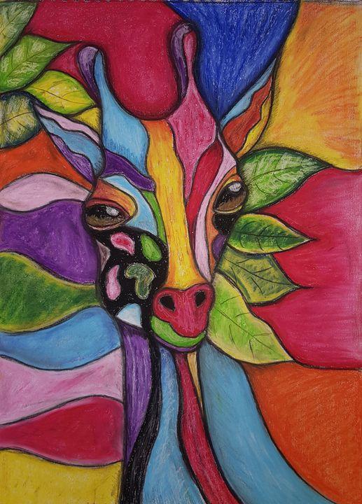 Cheeky Giraffe - Sylvia's Art