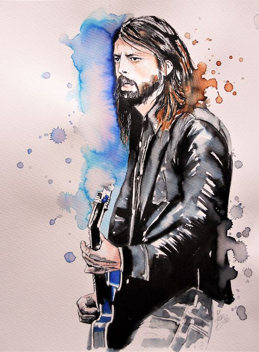 Portrait of Dave Grohl - Federica Gallery
