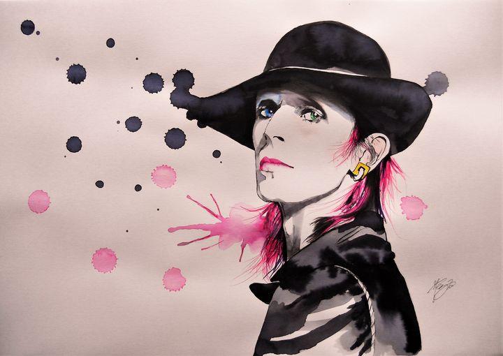 Rebel Rebel, Portrait of D.Bowie - Federica Gallery