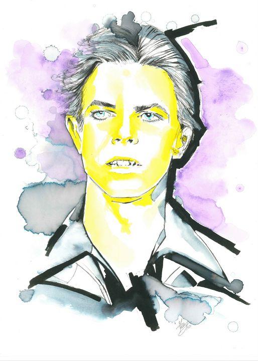 Portrait of Bowie - Federica Gallery