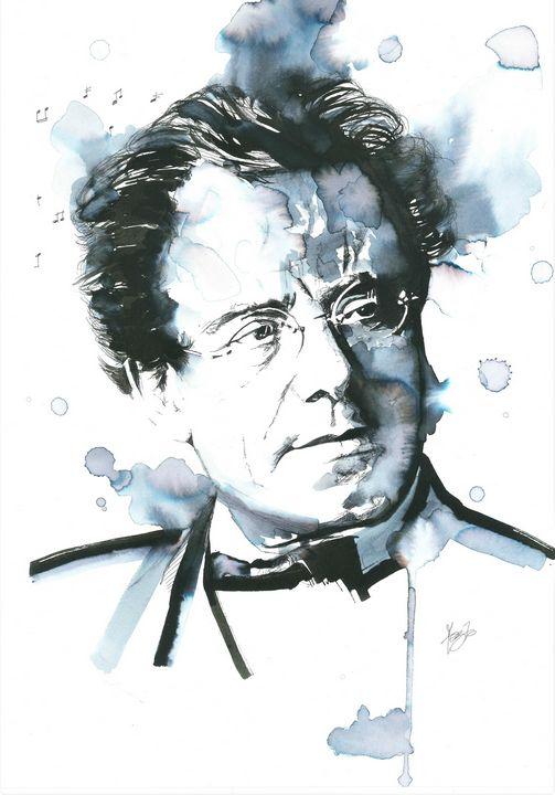 Portrait of Gustav Mahler - Federica Gallery