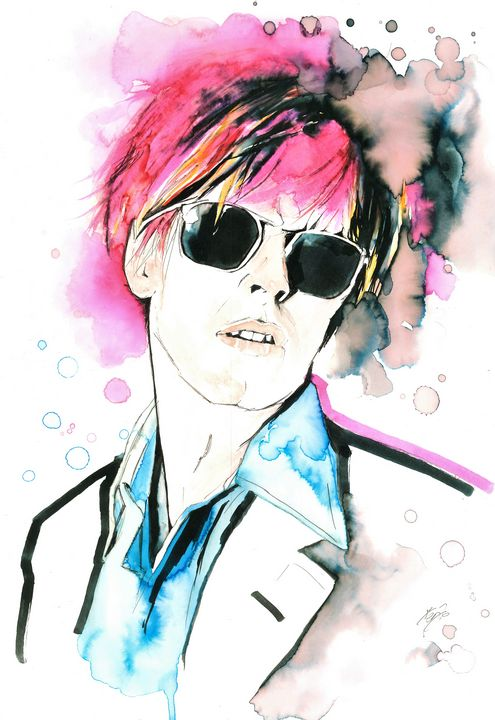 David Bowie with sunglasses - Federica Gallery