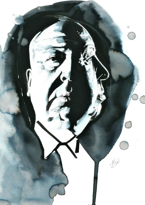 Portrait of Alfred Hitchcock - Federica Gallery