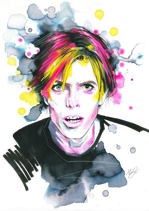 Let´s dance, portrait of David Bowie - Federica Gallery