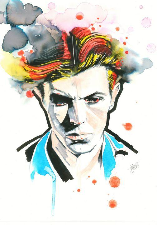 Ziggy, portrait of David Bowie - Federica Gallery