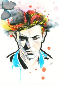Ziggy, portrait of David Bowie