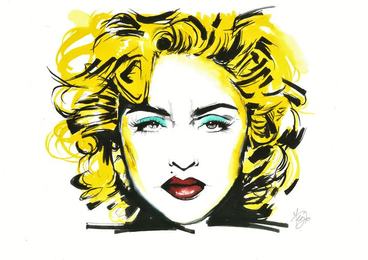 the queen, portrait of Madonna - Federica Gallery
