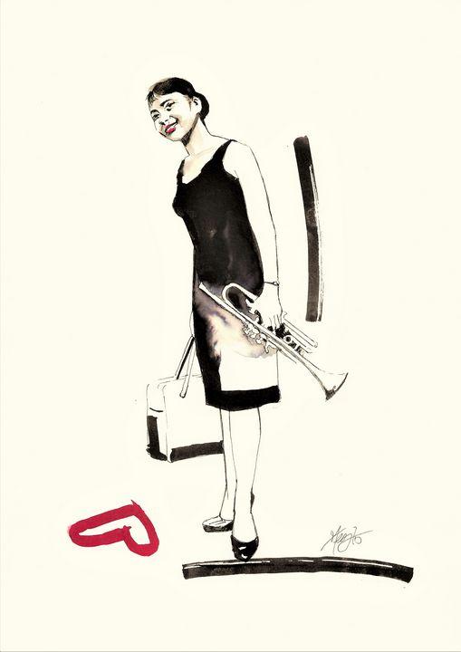 Portrait of Billie Holiday - Federica Gallery