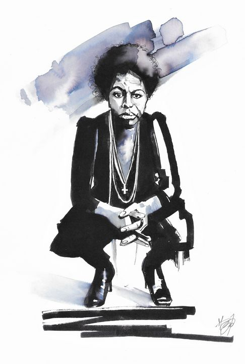 Portrait of Nina Simone - Federica Gallery