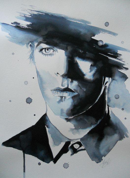 David Bowie on filmset - Federica Gallery