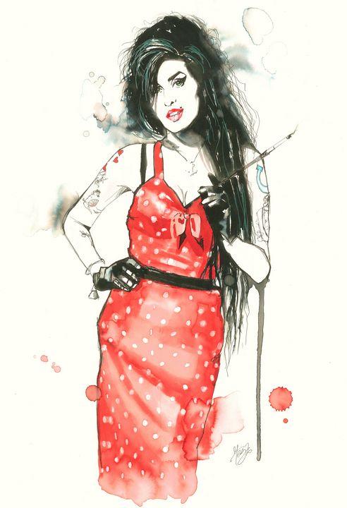 Portrait of Amy Winehouse - Federica Gallery