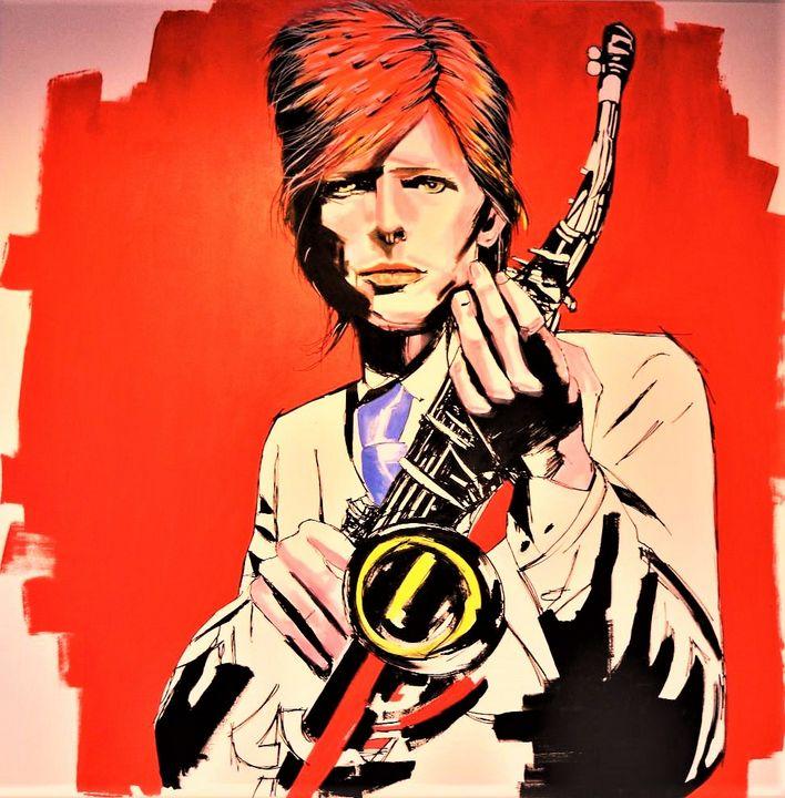 Let S Dance David Bowie Portrait Federica Gallery Paintings Prints People Figures Celebrity Musicians Artpal