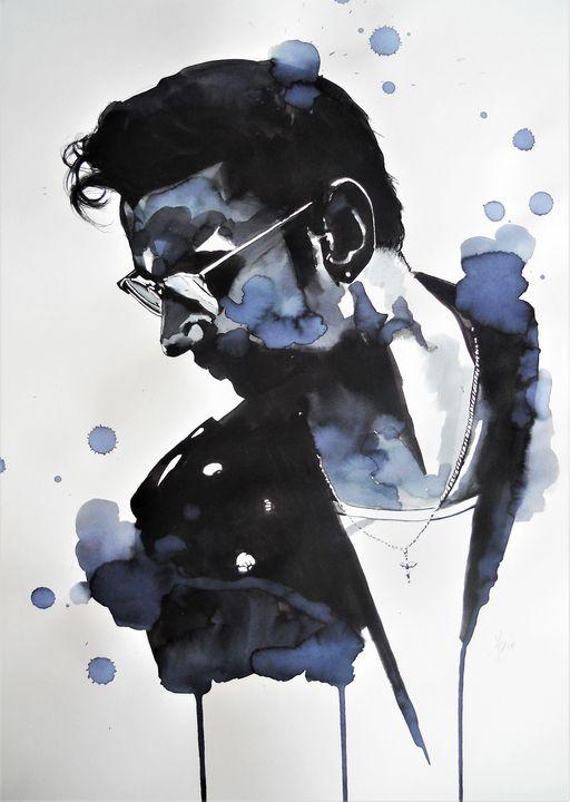Portrait of Dave Gahan - Federica Gallery