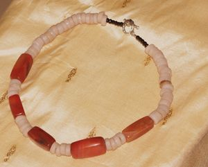 African Agate beads necklace