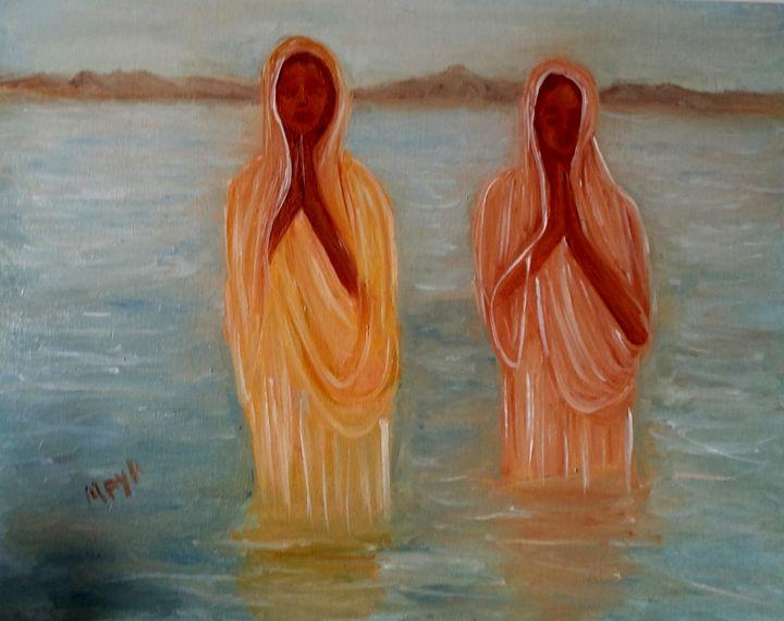 Praying women - Maya Art
