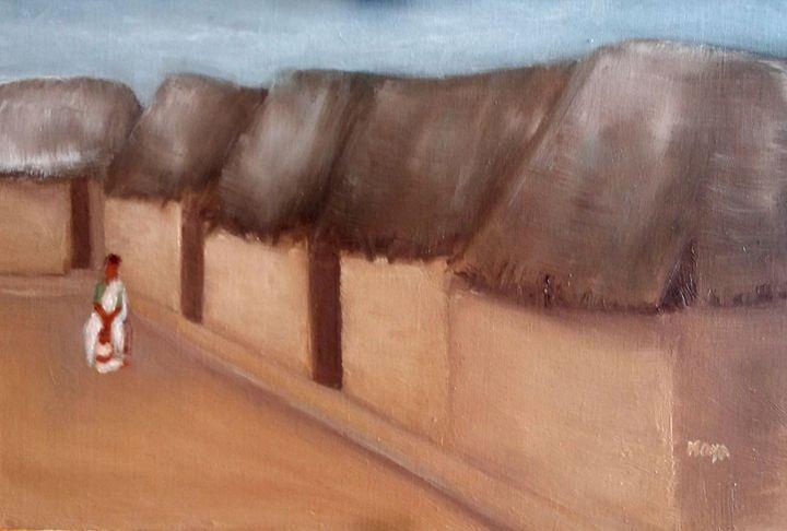 A mud house - Maya Art