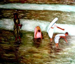 Paddy farming - Maya Art