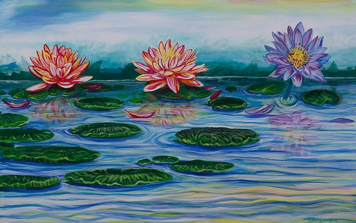 Three Lotus's In a Row - Burgher