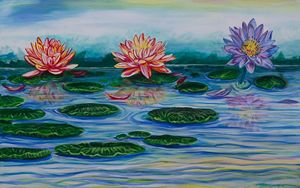 Three Lotus's In a Row