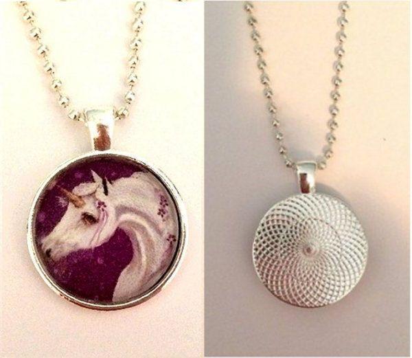 Unicorn 4a Pendant with Ball Chain - Patricia Ann Rizzo